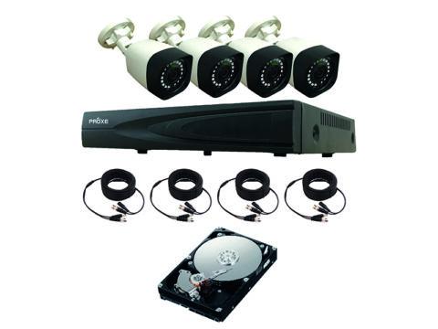 PROXE ART. 433420 - REGISTRATORE DI VIDEOSORVEGLIANZA HVR AHD-IP 4 CANALI + 4 TELECAMERE 4.0 MPX 2K
